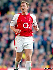 Long-serving Arsenal midfielder Ray Parlour