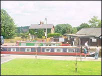 Canal boat at Trevor