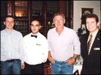 Harrison Ford with Bryn Howel hotel staff