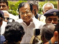 Indian finance minister Palaniappan Chidambaram