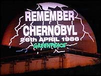 Greenpeace Chernobyl protest   PA