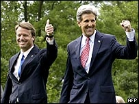 John Kerry and John Edwards