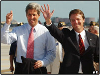 John Kerry and John Edwards