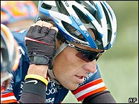 Lance Armstrong, the cyclist who beat cancer to coem back a world champion