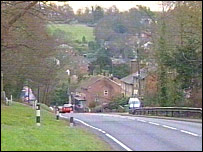 The A21 at Lamberhurst