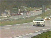 The A21 at Flimwell