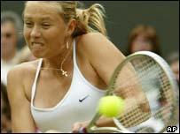 Wimbledon champion Maria Sharapova, AP