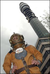 Lloyd Scott at the BT tower