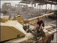 A Challenger 2 in Basra
