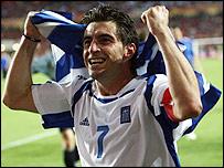 Griegos celebrando