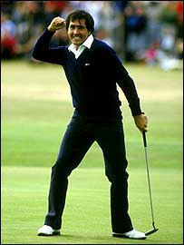Seve Ballesteros in St Andrews in 1984