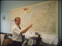 Patrick Eade with map of Germany