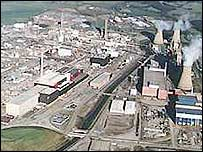 Aerial view of the Sellafield site