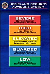Detalle del gráfico de alertas del departamento de Seguridad Nacional de EE.UU.