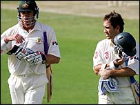 Matthew Hayden and Justin Langer