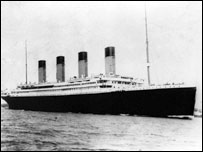 The Titanic sails from Southampton