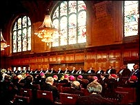 View of the courtroom in 1985
