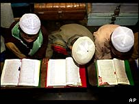 Boys studying the Koran