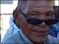 Roy Sesana, one of the San taking the Botswana government to court