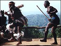 Zulu dancing