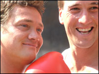 Sid Owen (left) takes on Ben Fogle