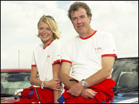 Jodi Kidd and Jeremy Clarkson are among the stars in fast cars