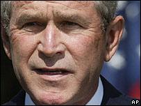 George W. Bush, presidente de Estados Unidos.
