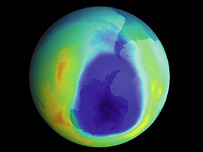 Ozone hole data from 2003, Nasa