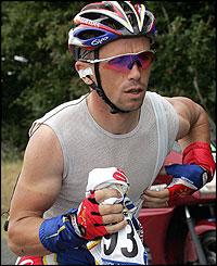 Frenchman Jimmy Casper after falling
