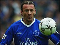 Chelsea midfielder Mario Stanic