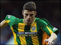 West Brom midfielder Jason Koumas