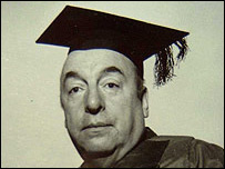 Pablo Neruda en Oxford. Archivo: Robert Pring-Mill.