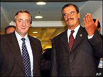 Néstor Kirchner, presidente de Argentina y Vicente Fox, presidente de México.