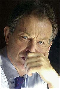 Tony Blair, primer ministro de Gran Bretaña