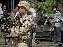 Australian soldier in Baghdad