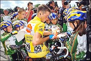 Overall leader Thomas Voeckler of France