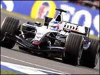 Kimi Raikkonen in action at Silverstone