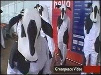 GM supermarket protest captured on Greenpeace video