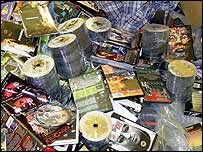 Pile of pirate DVDs