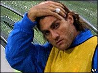 Christian Vieri, delantero de Argentina.