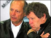 McLaren boss Ron Dennis and Mercedes boss Norbert Haug