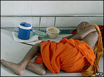 Aids patient in Bangkok, Thailand