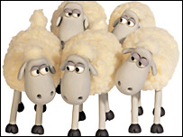 'Creature Comforts' sheep, designed by Aardman