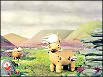 'Creature Comforts' ponies, designed by Aardman