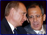 Российский президент Владимир Путин и министр иностранных дел Сергей Лавров
