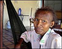 Woman dying of aids in Phonm Penh Hospice