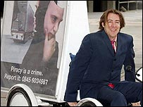 Jonathan Ross launching Piracy is a Crime campaign