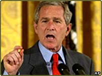 President Bush speaks about the economy in the East Room of the White House Friday, July 2, 2004