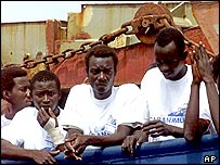 Migrants on the boat that claimed to have Darfur refugees