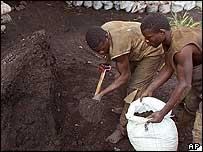Miner at Shinkolobwe